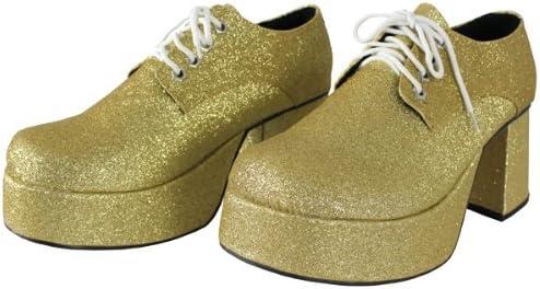 Schuhe 60er 70er Schlager 40 41 Plateauschuhe Herren Gold