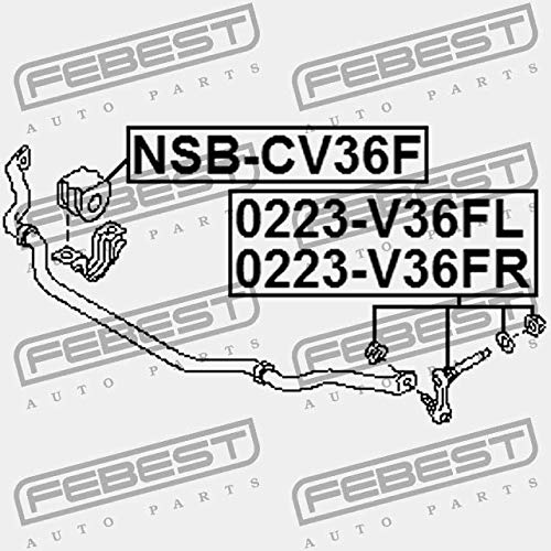 FRONT RIGHT STABILIZER LINK//SWAY BAR LINK Febest 0223-V36FR
