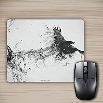 amazon com perlife crow ink painting mouse pad customized mousepad