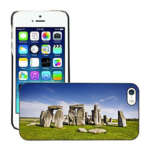 Hülle Case Schutzhülle Cover Premium Case // V00002639 Stonehenge // Apple iPhone 5 5S 5G