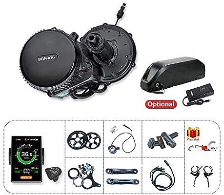BAFANG BBS02B E Kit de bicicleta 48V 500W Motor eléctrico de transmisión media para conversión de bicicletas (DP-C18 Pantalla a color, rueda de cadena: 52T): Amazon.es: Deportes y aire libre