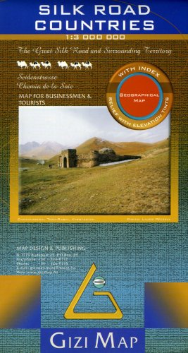 Silk Road Countries Map (English, French and German Edition)...