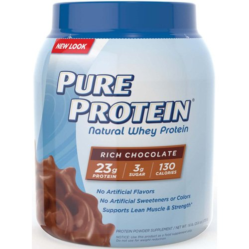 Pure Protein Powder, Natural, Whey, Great for Meal Replacement Shakes, Low Carb, Gluten Free, Rich Chocolate, 1.6 (Whey Gold Meal Replacement)