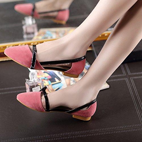 Bolsa Mujer nuevos red Planos ZHZNVX Ocasionales Señaló Dedo pie Pink Mujer del Verano de de con y Sandalias Helado Zapatos Primavera Zapatos t1qxZP1