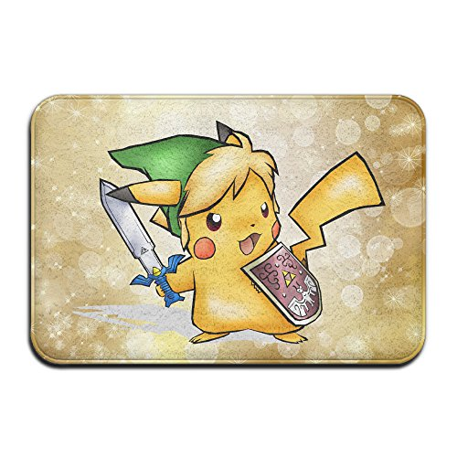 [Legend Of Pikachu Non-slip House Garden Gate Carpet Door Mat Floor Pads] (Step Back In Time Costumes)