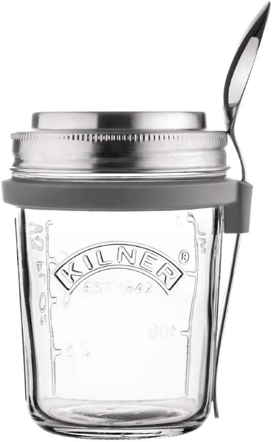Kilner 0025.899 Breakfast Jar Set, 0.35L, Transparent