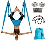 Yoga Swing Ultra Strong Antigravity Yoga Hammock for Air Yoga Inversion Exercises Air Yoga Inversion Exercises (Light Blue)