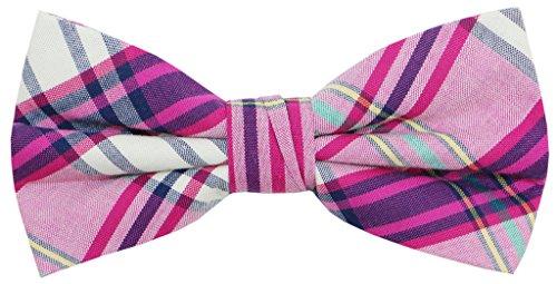 Mens Cotton Plaid Handmade Bow Tie