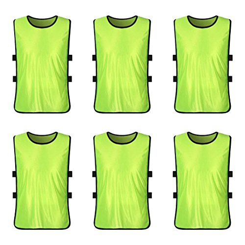 66d6d8d3d89 LEOSO Sports Training Pinnies Jerseys for Youth and Adults Team Practice  Vests Perfect as Basketball Practice Jersey