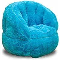 Heritage Kids Toddler Rabbit Fur Bean Bag Chair, Teal