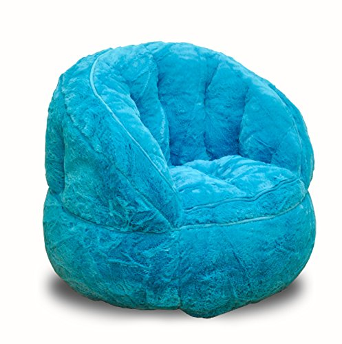 Heritage Kids Toddler Rabbit Fur Bean Bag Chair, Teal (Bean Sitting For Bags)