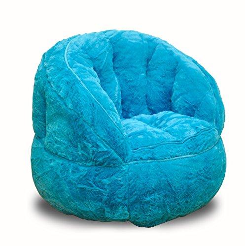 Heritage Kids Toddler Rabbit Fur Bean Bag Chair, Teal (Bags Bean For Sitting)