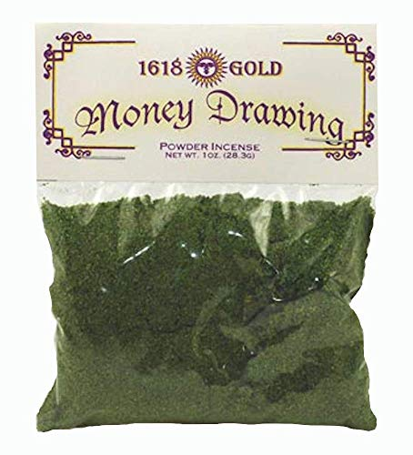 1oz Money Drawing Powder Incense, for Purifying, Cleansing, Healing, Metaphysical, Meditation and Wicca