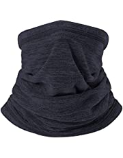 H HOME-MART Neck Warmer Gaiter Ski Winter Balaclava for Men and Women, Winter Face Mask Scarf Tube Cover Bandanas for Windproof Winter Motorcycle Skiing (Dark Navy, 1 Pack)