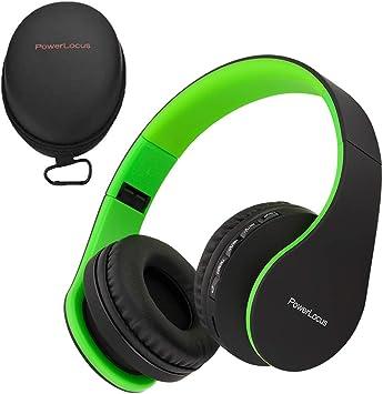 PowerLocus P1 – Auriculares Bluetooth inalambricos de Diadema Cascos Plegables, Casco Bluetooth con Sonido Estéreo con Conexión a Bluetooth Inalámbrico y Cable para Movil, PC, Tablet: Amazon.es: Electrónica