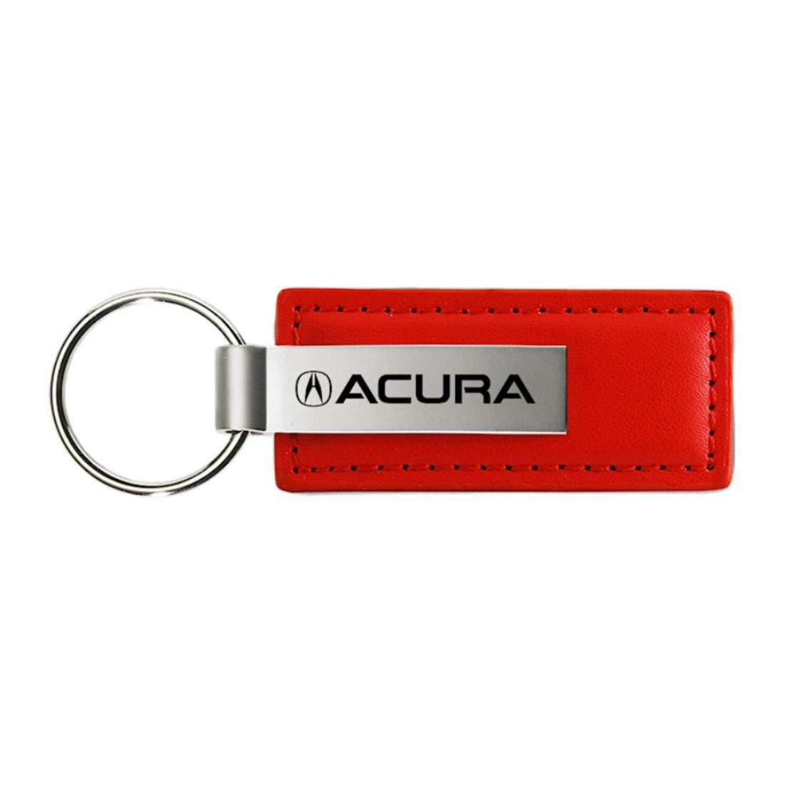 Acura MDX Red Leather Rectangular Key Chain