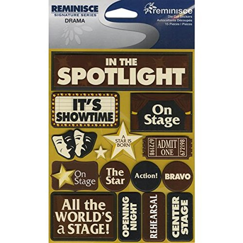 Reminisce Signature Series Dimensional Cardstock Stickers-Drama