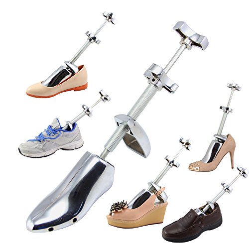Double Shaft Aluminum Alloy Shoe Tree Metal Adjustable Steel Shoe Expander Boot Stretcher Shaper (S 35-42)