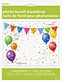 Plastic Party Photo Booth Backdrop, 5ft x 4ft
