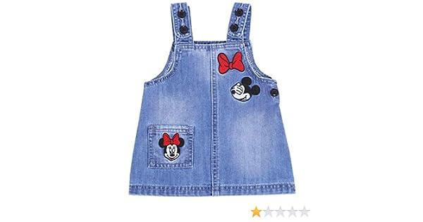 Minnie Mouse -:- Disney -:- Vestido Mezclilla 12-18 Meses: Amazon ...