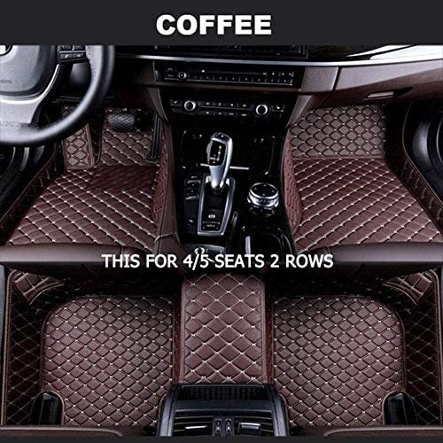 BYOLPMKK-Jiajia Accessories Foot Mats Custom Car Floor Mats for BAIC Motor All Models BJ40 BJ80 BJ20 D20 D70 D50 D60 X25 X55 X65 CC 35 BW007 (Color Name : Coffee-4/5Seat)