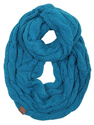 S1-6100-46 Funky Junque Infinity Scarf - Teal (Solid)