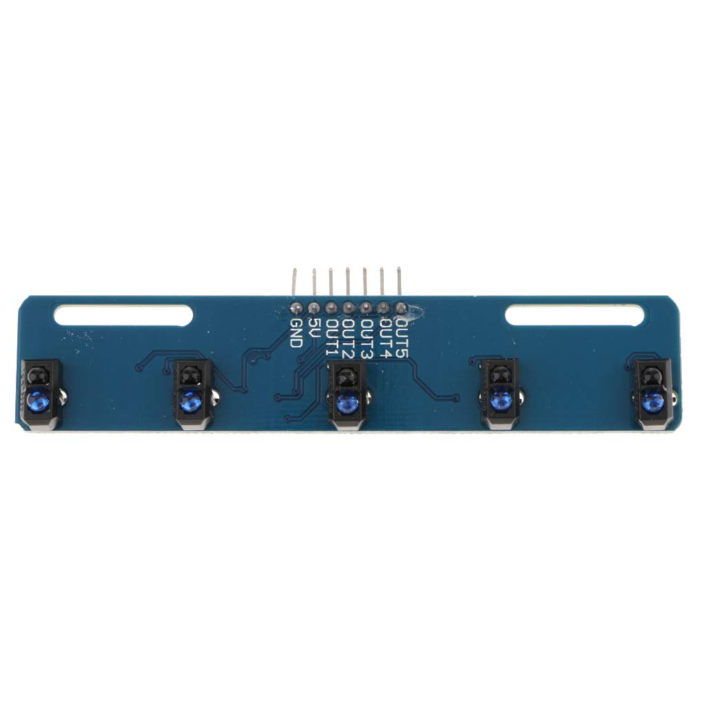 TCRT5000 Placa de Sensor de Reflexi/ón Infrarroja de 5 Canales Evadir Obst/áculos