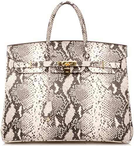 e7395d0a234 Ainifeel 40cm Oversized Patent Leather Padlock Handbag Laptop Purse  Business Handbags