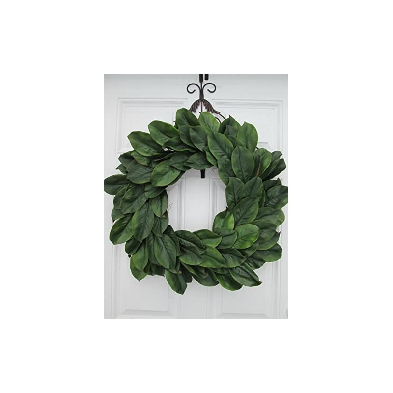 silk flower arrangements large magnolia wreath~ large magnolia door decor~ magnolia leaf door wreath~rustic magnolia wreath~farmhouse style door decor ~ rustic farmhouse inspired wreath
