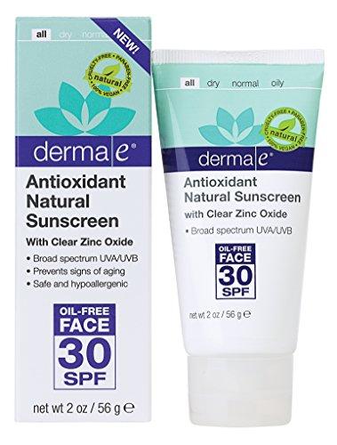 derma e Antioxidant Natural Sunscreen SPF 30 Oil-Free Face L