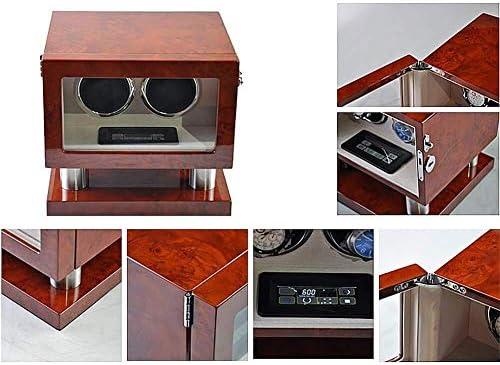 上げ機 ボックス静かなモーターアンチ磁化5回転モード表示ボックスストレージオーガナイザーを自動巻きウォッチワインダー4人の腕時計 腕時計ワインディングマシーン