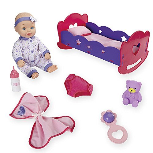 You   Me 14 Inch Baby With Bed Deluxe Set