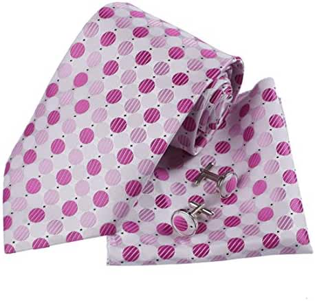 DAD3D Multiple Colors Checkers Tie Cufflinks Hanky Matching Fabric Box Dan Smith