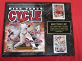 Mike Trout Anaheim Angels 2 Card Collector Plaque w/8x10 YOUNGEST PLAYER TO HIT FOR THE CYCLE Photo!