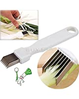 ensunpal store Tool Slice Cutlery Kitchen Onion Vegetable Cutter Sharp Scallion Cutter Shred