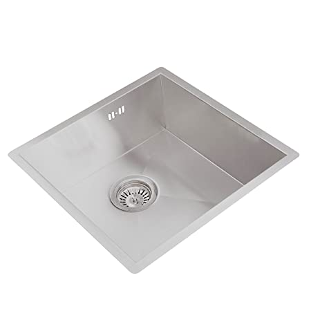 Valle Vancouver 440 x 440mm Single Bowl Undermounted Kitchen Sink ...