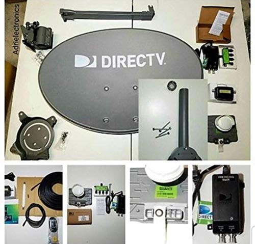 - New 2019 AT&T Directv HD Satellite Dish Low Mast SWM 3 LNB + RG6 COAXIAL Cables 50 ft Included Ka/ku Slim Line Dish Antenna SWM 3 Single Output W/ 4 Port Splitter + Power 21 v + Signal Finder + Level