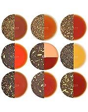 VAHDAM, Chai Tea Sampler - 10 TEAS, 50 Servings | 100% Natural Spices | India's Original Masala Chai Teas | Brew Hot, Iced or Chai Latte | Tea Variety Pack & Tea Gift Set - Chai Tea Loose Leaf, 100gm