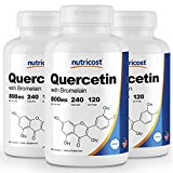 Nutricost Quercetin 800mg, 240 Caps With Bromelain (3 Bottles)