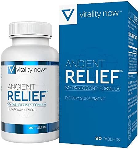 Ancient Relief Joint Health Supplement - Supports Joint Mobility and Flexibility - Boosts Natural Anti-Inflammatory Bodily Functions - All Natural Botanical Alternative - 30-Day Supply (90 Count)