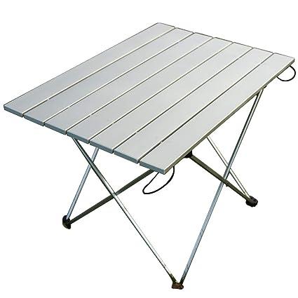 Amazon.com: Muebles al aire libre, mesa plegable de aluminio ...