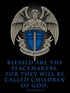 Amazon Com Saint Michael Poster Blessed Are The