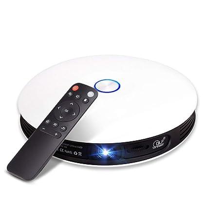 Mini proyector LED DLP Inteligente con Altavoz, Bluetooth ...