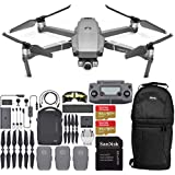 DJI Mavic 2 Zoom Drone Quadcopter with 24-48mm Optical Zoom Camera and 2X SanDisk Extreme 64GB MicroSDXC UHS-I Card (with Fly More Combo Kit)