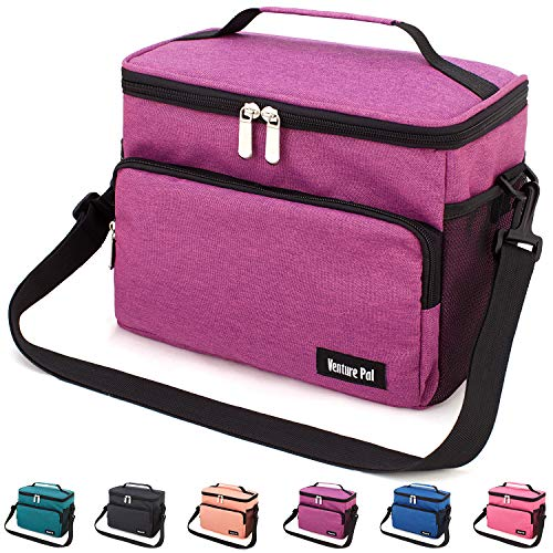 Leakproof Reusable Insulated Cooler Lunch Bag - Office Work Picnic Hiking Beach Lunch Box Organizer with Adjustable Shoulder Strap for - Bag Kit Cooler
