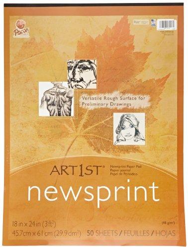 Sax Standard Weight Newsprint Pads - 18 x 24 - 50 Sheets