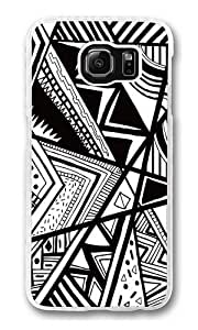 Black And White Doodle Custom Samsung Galaxy S6/Samsung S6 Case Cover Polycarbonate Transparent