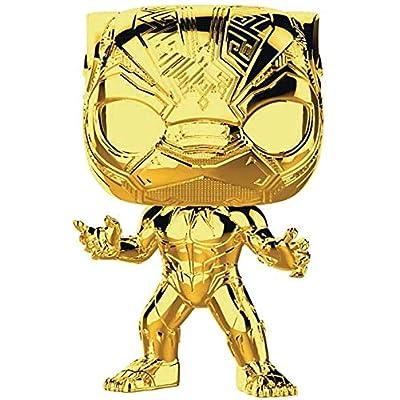 Funko Pop! Marvel: Studio's 10th Anniversary - Black Panther (Chrome): Toys & Games