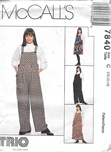McCall's 7840 Maternity Jumpsuit and Jumper in 2 Lengths Sewing Pattern