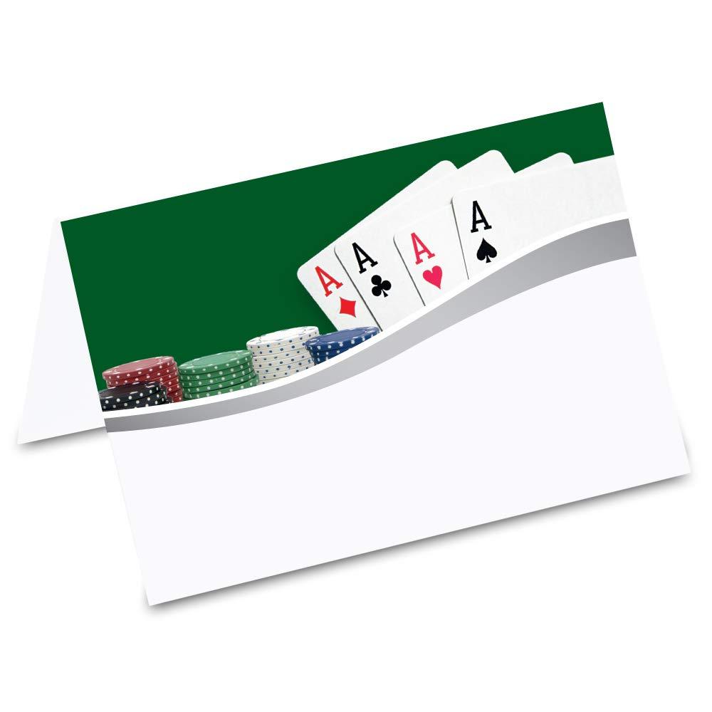 PRICARO Tischkarten Poker Vier ASSE, 50 Stück 50 Stück ecomserv